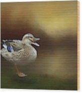 Quack Quack Wood Print