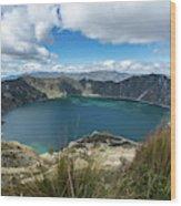 Quilotoa Crater Lake Wood Print
