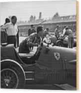 Racing Ferrari Wood Print
