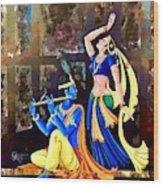 Radhakrishna Wood Print