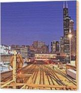 Rail Tracks Wood Print