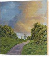 Railway Park Wood Print