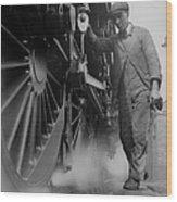 Railwayman Wood Print