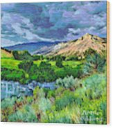 Rain Clouds On The Way To Sweetwater Wood Print