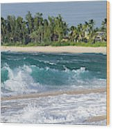 Rainbow Beach Wood Print
