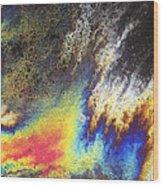 Rainbow Explosion Wood Print