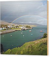 Rainbow In The Outer Hebrides Tarbert Wood Print