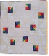 Rainbow Pinwheel Wood Print