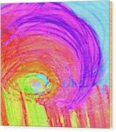 Rainbow Shell Wood Print