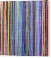 Rainbow Stripes Purple Gold 201912 Wood Print