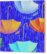 Rainy Day Parade Wood Print