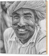 Rajput High School Teacher Bw Wood Print