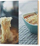 Ramen Noodles Diptych Wood Print
