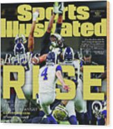 Rams Rise How L.a. Built A Super Team Almost Overnight Sports Illustrated Cover Wood Print