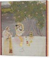 Rana Sangram Singh Worshipping A Linga Wood Print