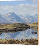 Rannoch Moor In Winter Wood Print