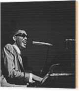 Ray Charles Behind The Scence At The Wood Print