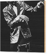 Ray Charles Dances On Stage Wood Print