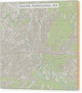 Reading Pennsylvania Us City Street Map Wood Print