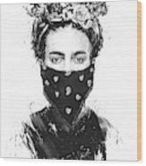 Rebel girl Wood Print
