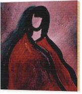 Red Blanket Wood Print