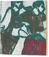 Red Detachment Of Women Painting Wood Print