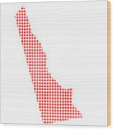 Red Dot Map Of Delaware Wood Print