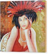 Red Hat Wood Print
