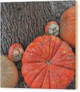 Red Orange Wood Print