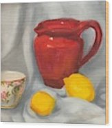 Red Pitcher Wood Print