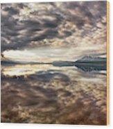Red Rock Lake Sunrise Wood Print