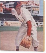Red Schoendienst At Third Wood Print