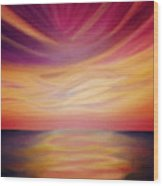 Red Sky Sunset Wood Print