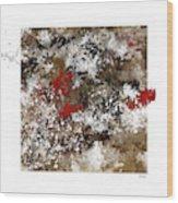 Red Splashes Wood Print
