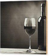 Red Wine Wood Print