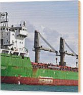 Redhead Freighter Wood Print