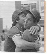 Reds Johnny Bench Kissing Mets Tom Wood Print