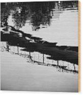 Reflected Bridge Wood Print