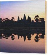 Reflections Of Angkor Wat - Siem Reap, Cambodia Wood Print
