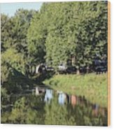 Reflections Of Bridgewater Canal - 1 Wood Print