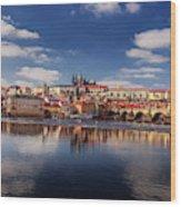 Reflections Of Prague Wood Print