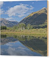 Reflections Of The Sawatch Range In The Autumn Wood Print