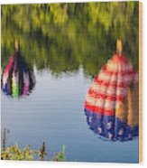 Reflections On The Androscoggin Wood Print