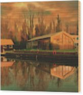 Reflections On The Wey Wood Print
