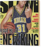 Reggie Miller: The New King SLAM Cover Wood Print