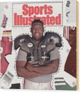 Reggie White, Nfl Free Agent Sports Illustrated Cover Wood Print