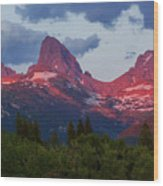 Reliving The Tetons Wood Print