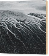 Remains Of A Wave Wood Print