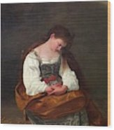Repentant Mary Magdalene Wood Print