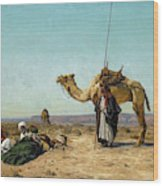 Rest In The Syrian Desert, 19th Century Wood Print